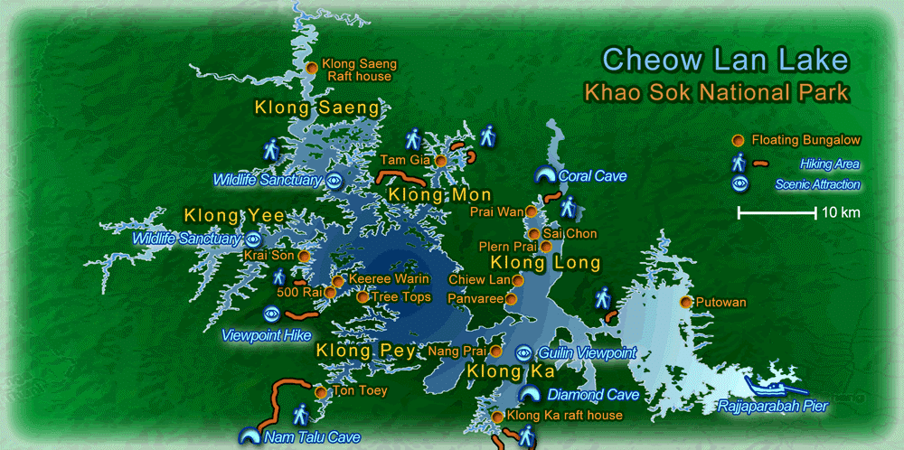 Cheow Lan Lake Map